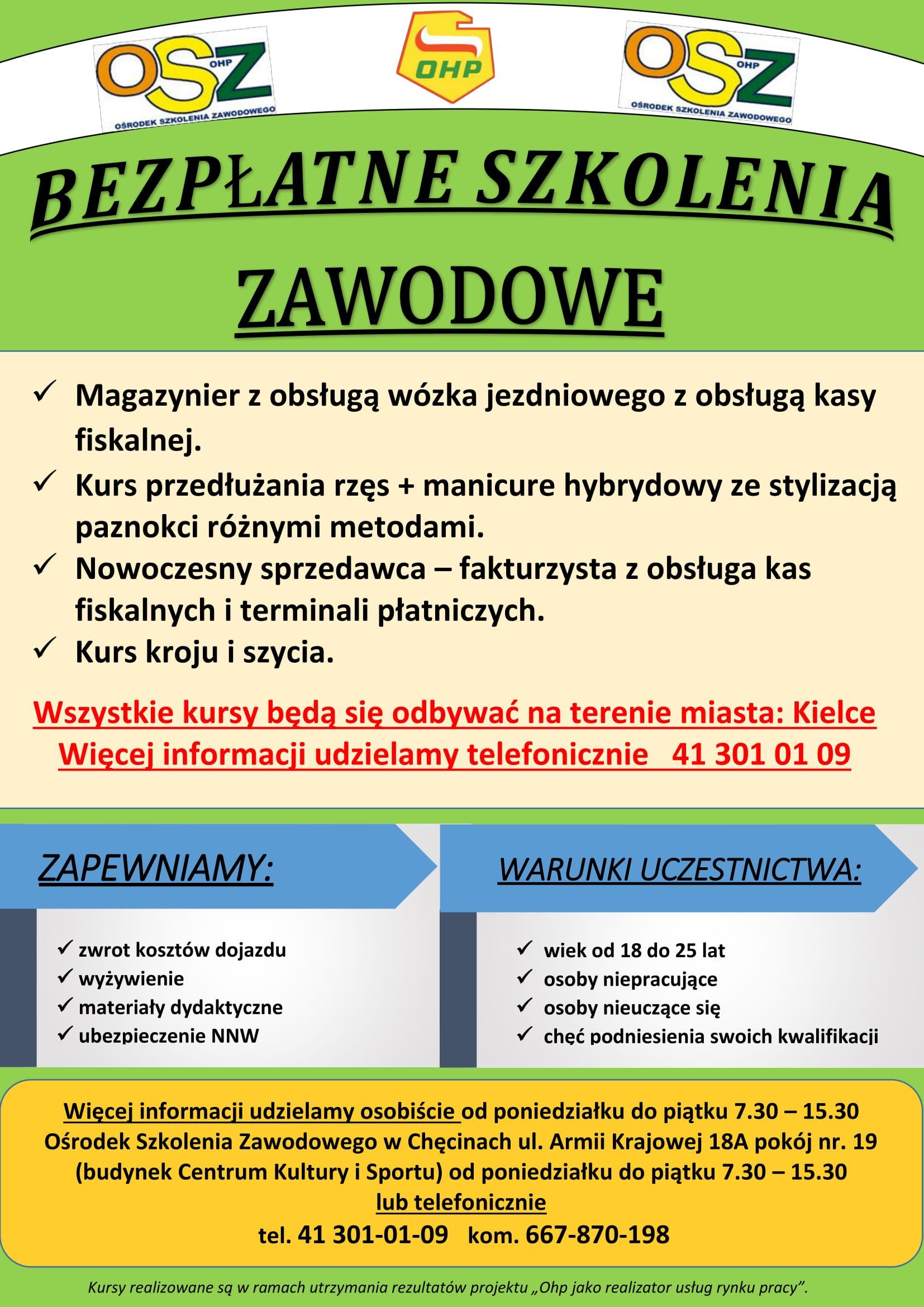 plakat reklamowy OHP-szkolenia