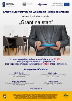 Projekt KSWP pod nazwą Grant na start