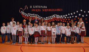 Więcej o: Uroczystości Święta Niepodległości w Szkole Podstawowej im. Jana Pawła II przy ulicy Stanisława Żuka w Gowarczowie