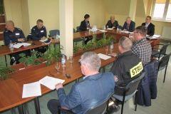 ćwiczenia obronne, spotkanie w sali konferencyjne