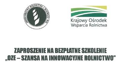 Zaproszenie na szkolenie OZE