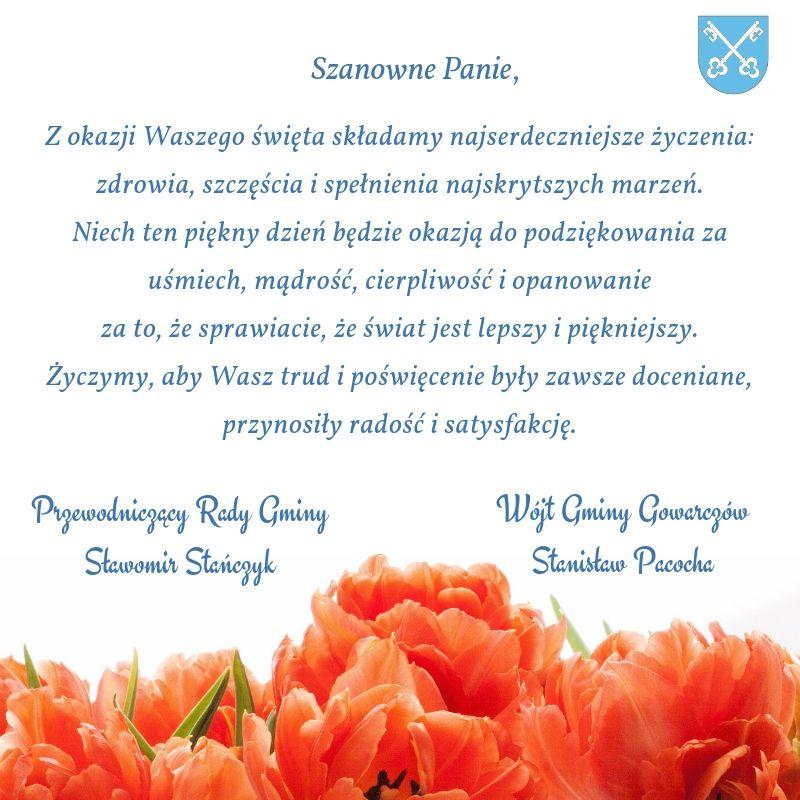 Życzenia z okazji dnia Dnia Kobiet
