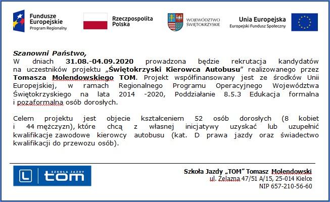 """Projekt - """"Świętokrzyski Kierowca Autobusu"""""""