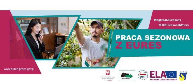 Baner kampanii EURES dotyczący pracy sezonowej
